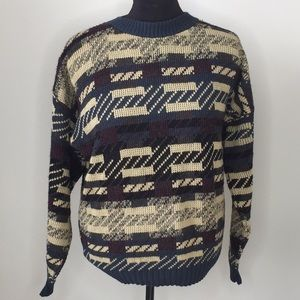 Men's vintage oversized sweater multi colored